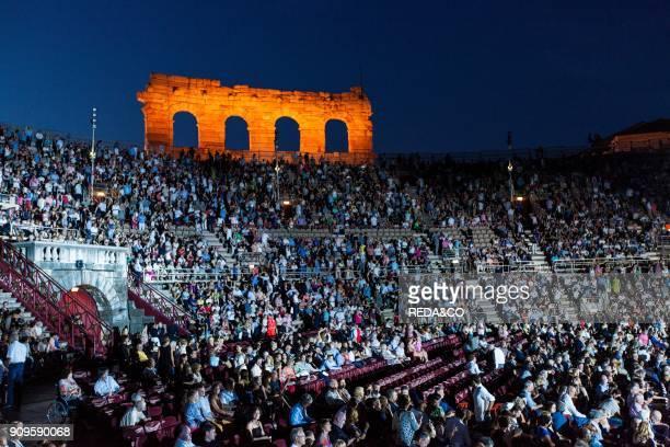 Arena di Verona amphitheater lyric opera Aida Verona Veneto Italy Europe