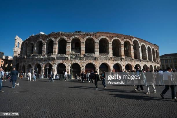 anfiteatro de arena di verona - arte, cultura e espetáculo - fotografias e filmes do acervo