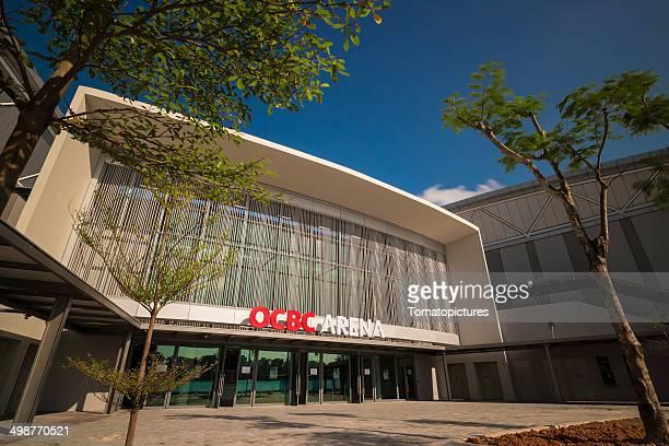 ocbc arena en singapore sports hub - singapore sports hub fotografías e imágenes de stock