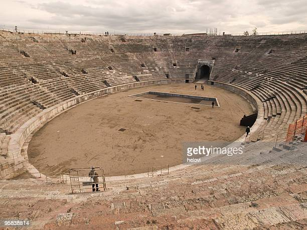 arena in verona - inside the roman colosseum stock photos and pictures