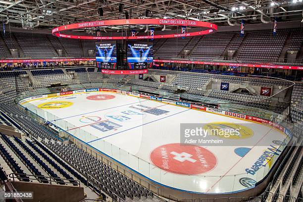 Arena is seen during the Champions Hockey League match between Adler Mannheim and HC Lugano at SAP on August 18 2016 in Mannheim Germany
