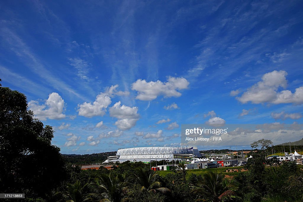 Arena Pernambuco is seen prior to the FIFA Confederations Cup Brazil 2013 Group B match between Uruguay and Tahiti on June 22, 2013 in Recife, Brazil.