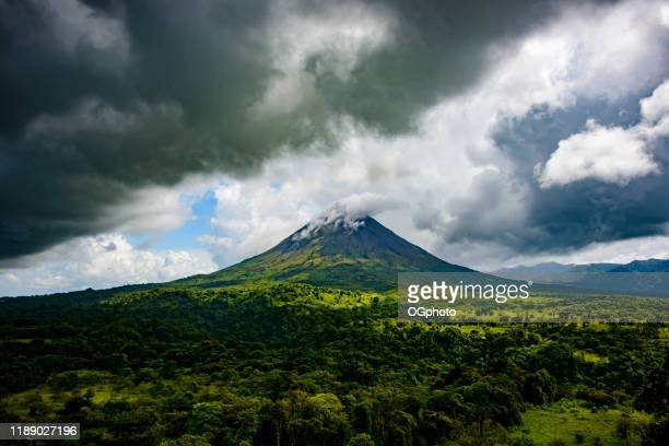 arenal volcano, costa rica - ogphoto stock photos and pictures