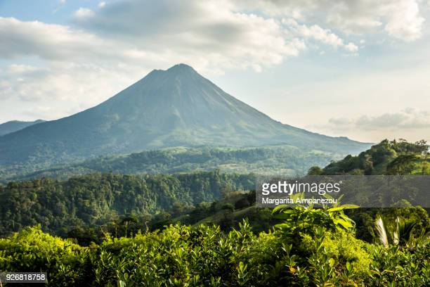 arenal volcano - costa rica stock photos and pictures