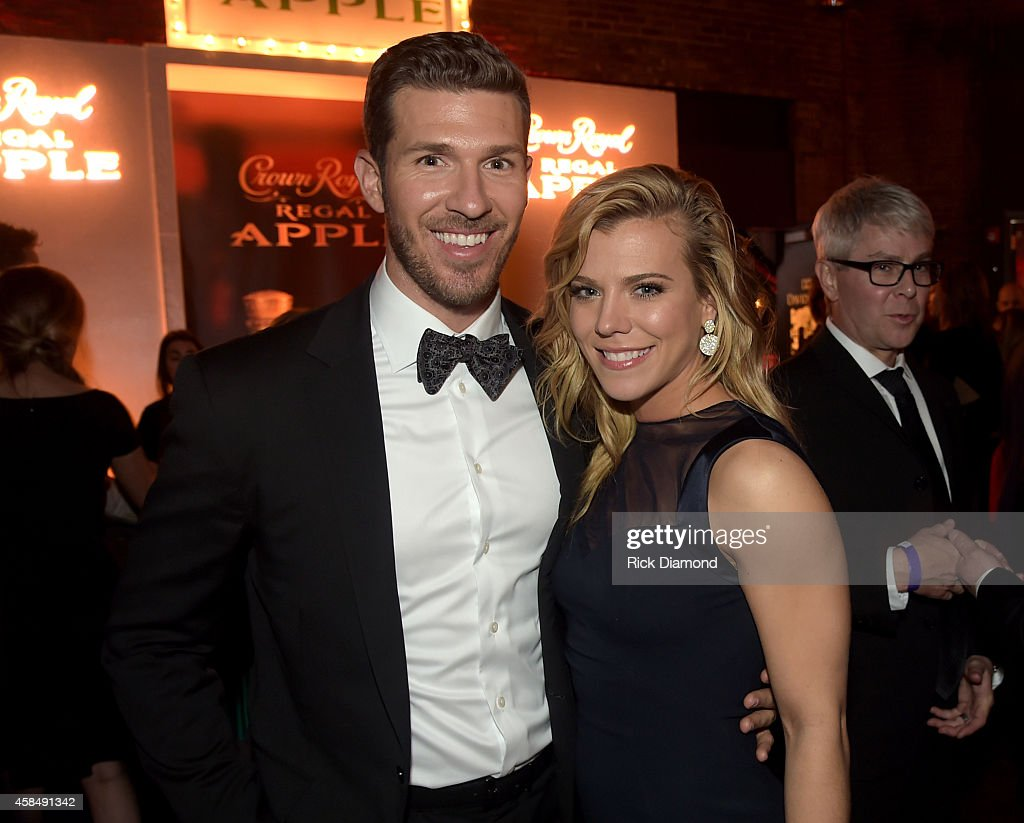 J.P. Arencibia and Kimberly Perry of The Band Perry attend the Big Machine Label Group Celebrates The 48th Annual CMA Awards in Nashville on November 5, 2014 in Nashville, Tennessee.