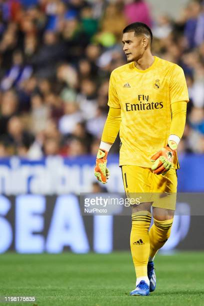 Areola of Real Madrid during the Copa del Rey round of 16 match between Real Zaragoza and Real Madrid at La Romareda on January 29 2020 in Zaragoza...