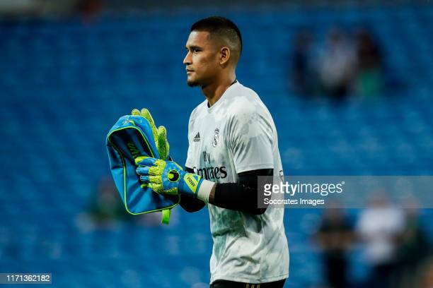 Areola of Real Madrid during the La Liga Santander match between Real Madrid v Osasuna at the Santiago Bernabeu on September 25 2019 in Madrid Spain