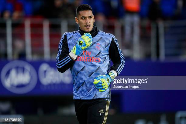 Areola of Real Madrid during the La Liga Santander match between Eibar v Real Madrid at the Estadio Municipal de Ipurua on November 9 2019 in Eibar...