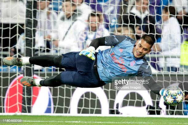 Areola of Real Madrid during the UEFA Champions League match between Real Madrid v Galatasaray at the Santiago Bernabeu on November 6 2019 in Madrid...