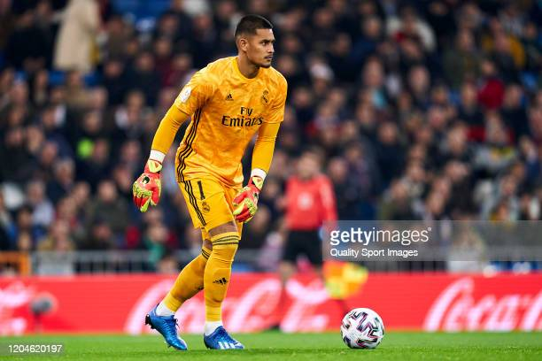 Areola of Real Madrid in action during the Spanish King Cup match between Real Madrid and Real Sociedad on February 06 2020 in Madrid Spain