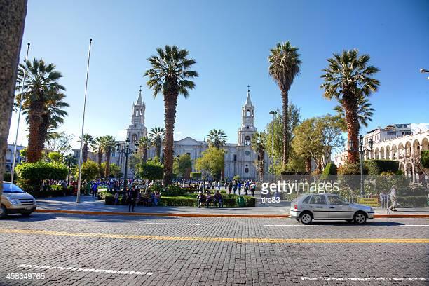 Catedral De Arequipa en el town square Plaza De Armas