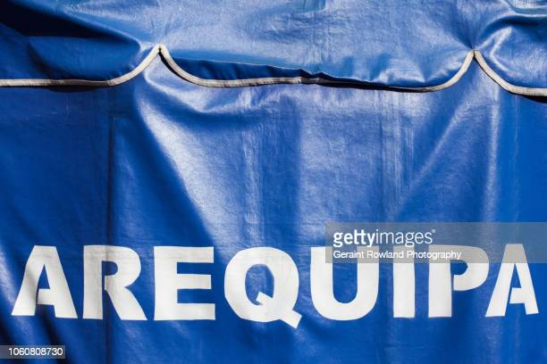 arequipa - tarpaulin stock pictures, royalty-free photos & images