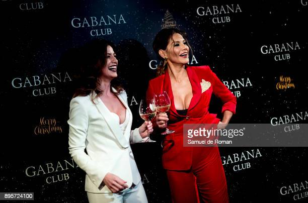 Ares Teixido and Ivonne Reyes attend the Gabana Christmas season party on December 19 2017 in Madrid Spain
