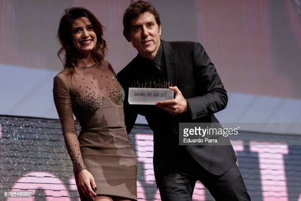Ares Teixido and Manel Fuentes attend Men's Health 2017 Awards gala at Goya theater on November 20 2017 in Madrid Spain