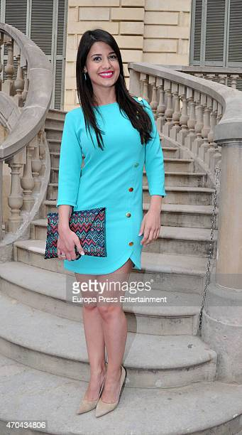 Ares Teixido poses during a photocall for 'Petit Style Walking' at Palau Robert on April 18 2015 in Barcelona Spain