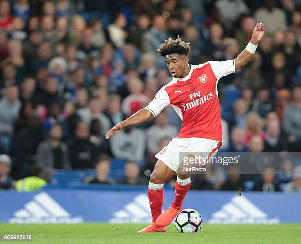 Aresnal's U23s Reiss Nelson during Premier League 2match between Chelsea and Arsenal at the Stamford Bridge London England on 23 September 2016
