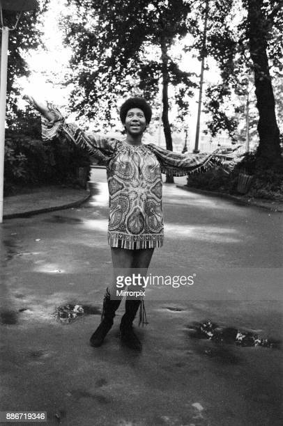 Aretha Fanklin pictured in London 28th July 1972