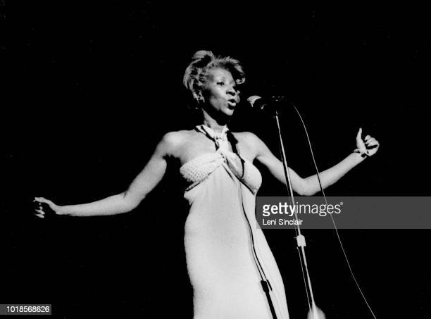 Aretha Franklin American singer/songwriter performing on stage at the Masonic Temple in Detroit on March 27 1976
