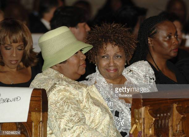 Aretha Franklin and Cissy Houston at the funeral service for Luther Vandross on Friday July 8 2005