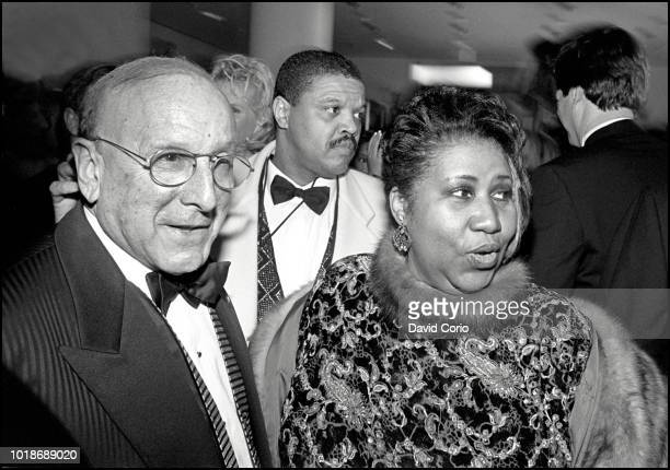 Aretha Franklin and Clive Davis at BMG Records party after Grammy Awards New York 9 March 1997