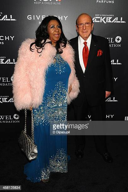Aretha Franklin and Clive Davis attend Keep A Child Alive's 11th annual Black Ball at Hammerstein Ballroom on October 30 2014 in New York City