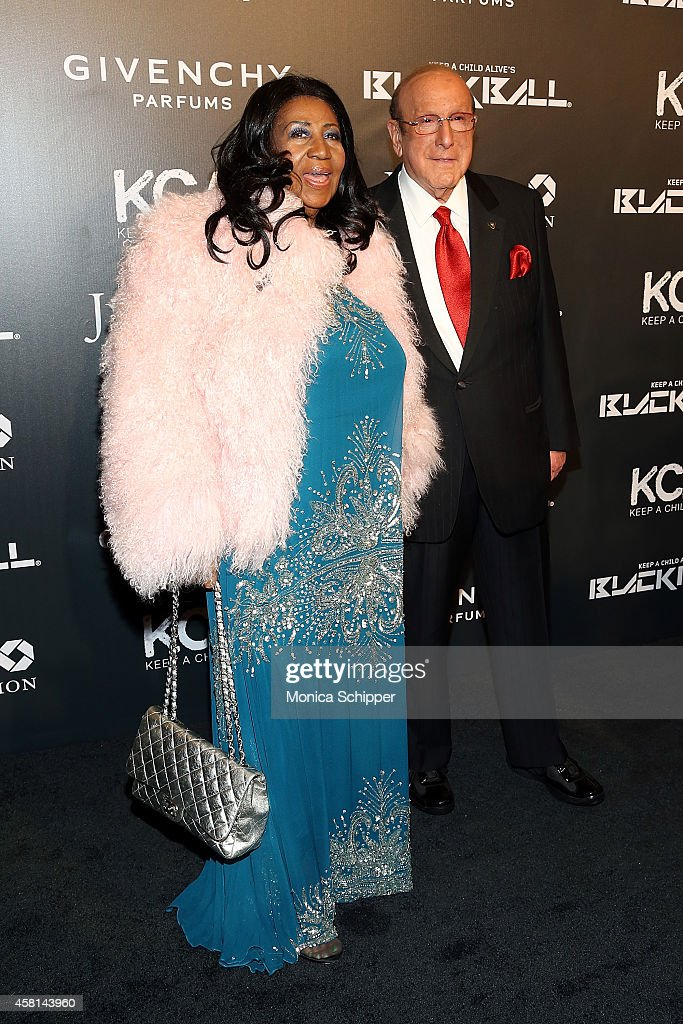 Aretha Franklin (L) and Clive Davis attend the 9th annual Keep A Child Alive Black Ball at Hammerstein Ballroom on October 30, 2014 in New York City.