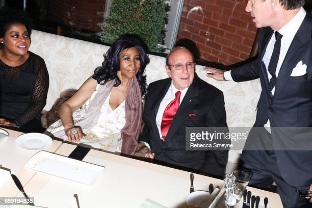 Aretha Franklin and Clive Davis attend the afterparty for the opening night of the 2017 Tribeca Film Festival World Premiere of Clive Davis The...
