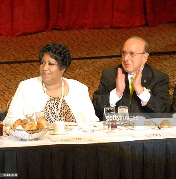 Aretha Franklin and Clive Davis attends the Friars Club roast of Matt Lauer at the New York Hilton on October 24 2008 in New York City