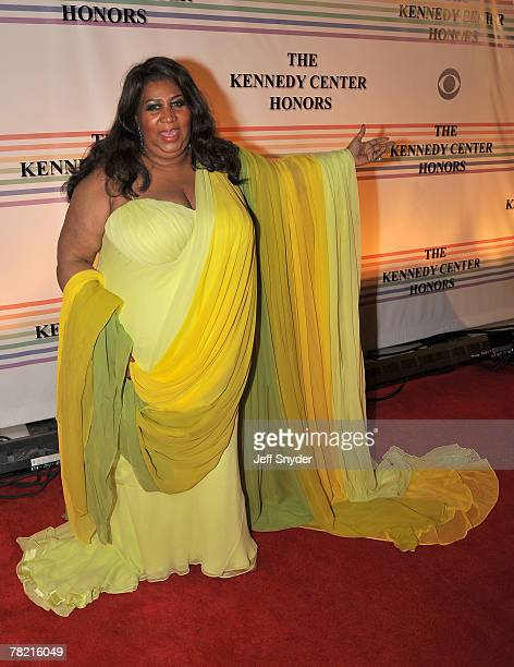 Aretha Franklin arriving at The 30th Kennedy Center Honors in Washington DC December 2 2007 The 2007 honorees are pianist Leon Fleisher actor Steve...
