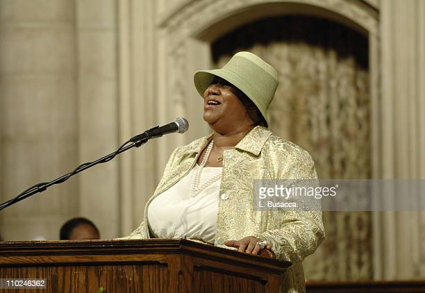Aretha Franklin at the funeral service for Luther Vandross on Friday July 8 2005