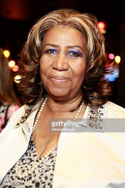 Aretha Franklin attends a special screening of 'Sparkle' at the Emagine Royal Oak theater on August 5 2012 in Royal Oak Michigan