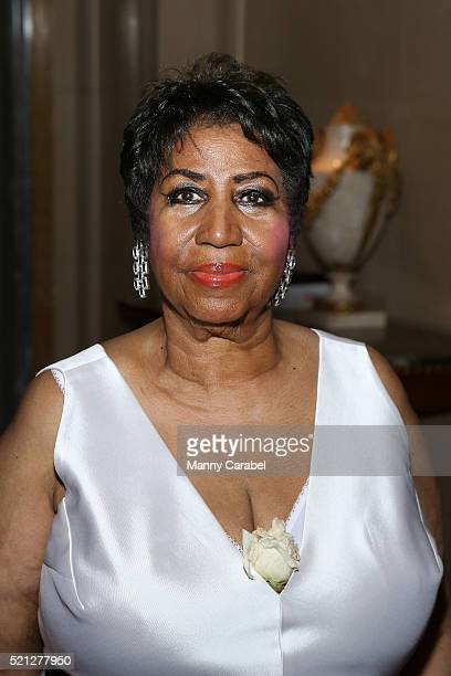 Aretha Franklin attends her 74th Birthday Celebration at the Ritz Carlton New York Central Park on April 14 2016 in New York City