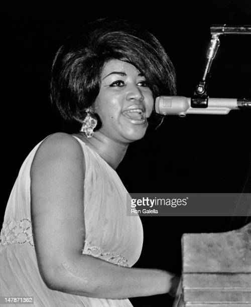 Aretha Franklin attends Martin Luther King Jr Benefit Concert on June 28 1968 at Madison Square Garden in New York City