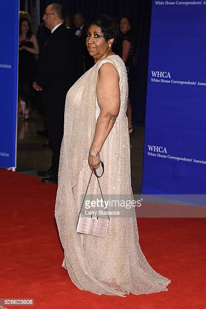 Aretha Franklin attends the 102nd White House Correspondents' Association Dinner on April 30 2016 in Washington DC