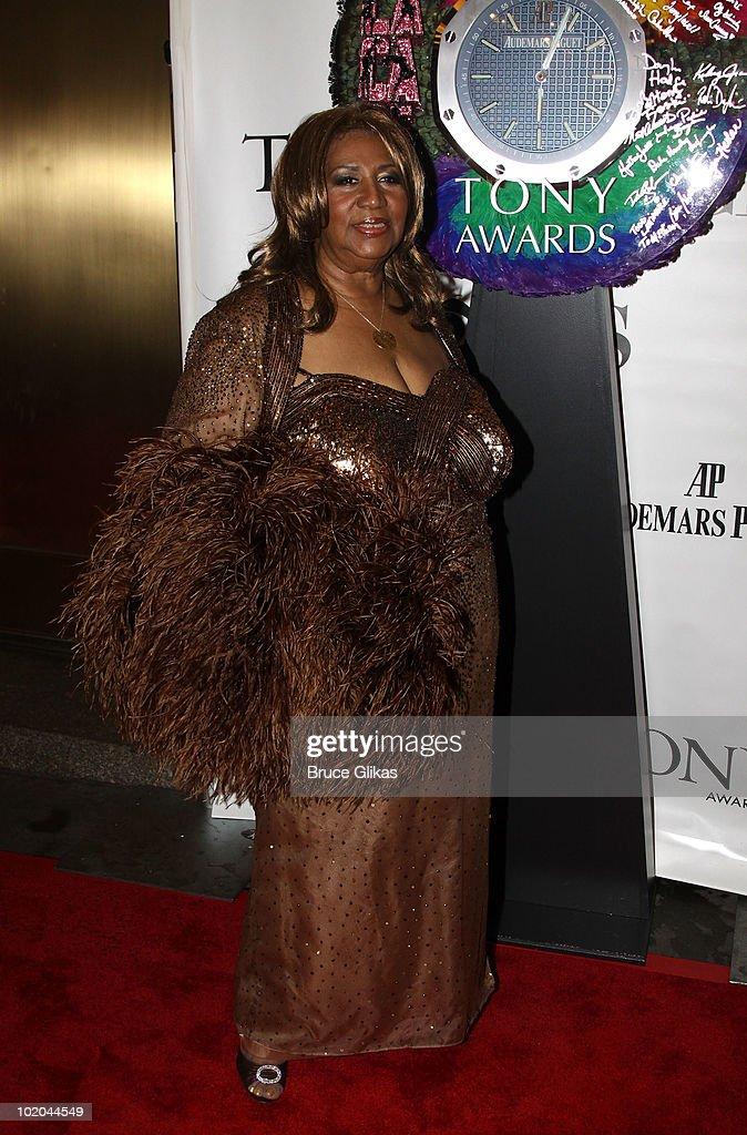 Aretha Franklin attends the 64th Annual Tony Awards at Radio City Music Hall on June 13, 2010 in New York City.
