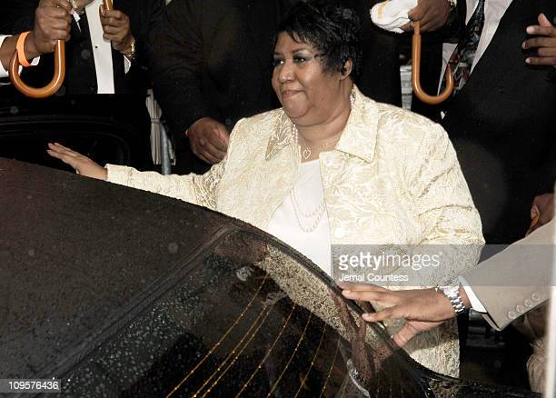 Aretha Franklin during Luther Vandross Funeral Service July 8 2005 at Riverside Church in New York City New York United States