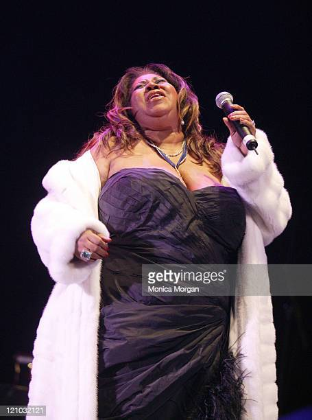 Aretha Franklin during Tom Joyner's 'Mistletoe Jam' Comes to Detroit December 10 2005 at Joe Louis Arena in Detroit MI United States