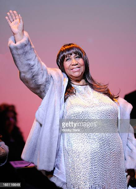 Aretha Franklin performs at New Jersey Performing Arts Center on March 30 2013 in Newark New Jersey
