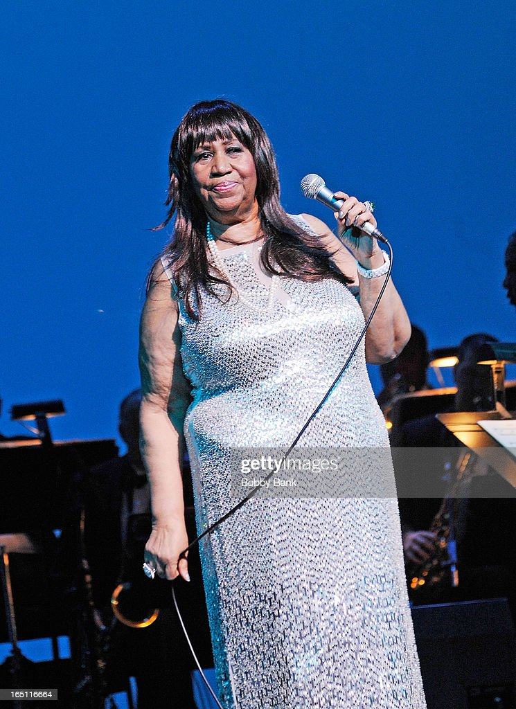 Aretha Franklin performs at New Jersey Performing Arts Center on March 30, 2013 in Newark, New Jersey.