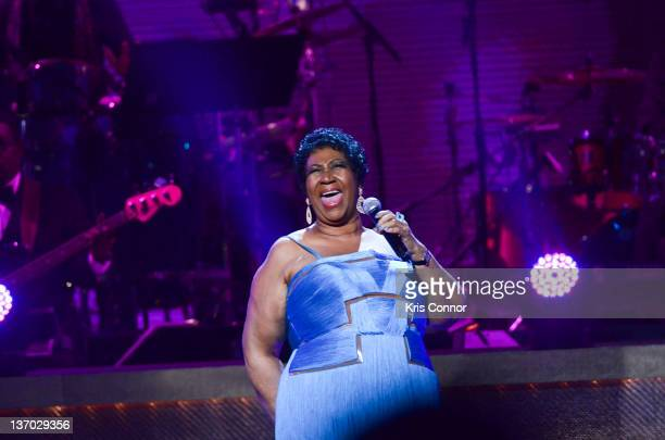 Aretha Franklin performs during the BET Honors 2012 at the Warner Theatre on January 14 2012 in Washington DC