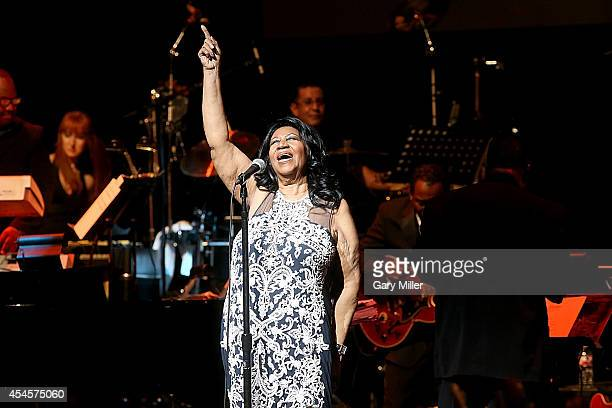 Aretha Franklin performs in concert at ACL Live on September 3 2014 in Austin Texas