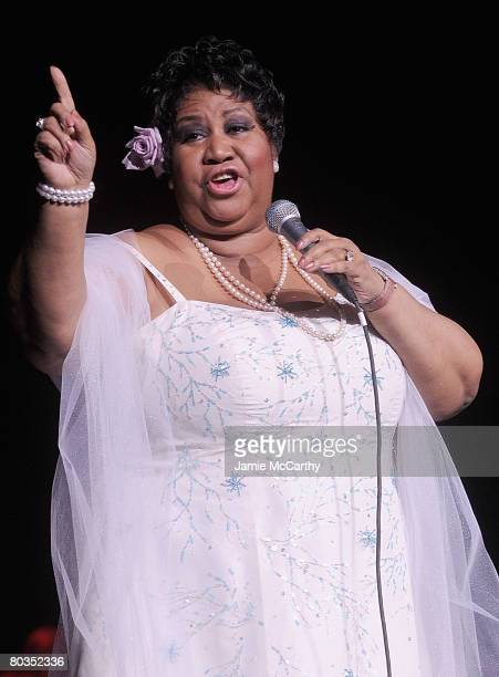 Aretha Franklin performs on stage at Radio City Music Hall in New York on March 21 2008