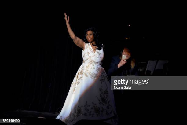 Aretha Franklin performs onstage during the 'Clive Davis The Soundtrack of Our Lives' Premiere Concert during the 2017 Tribeca Film Festival at Radio...