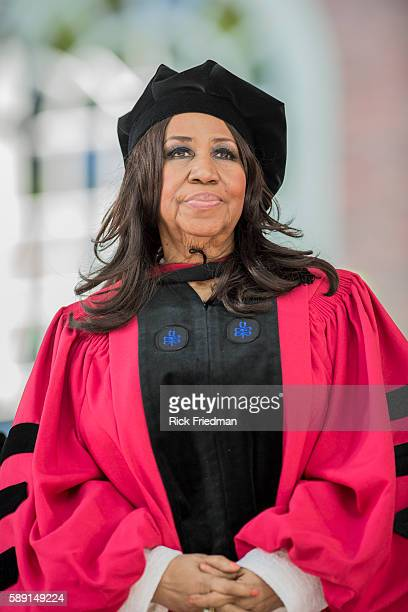 Aretha Franklin Queen of Soul receives an honorary doctorate during Harvard University's 363rd commencement ceremony in Cambridge MA on May 29 2014