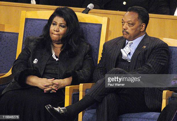 Aretha Franklin Singer and Rev Jesse Jackson