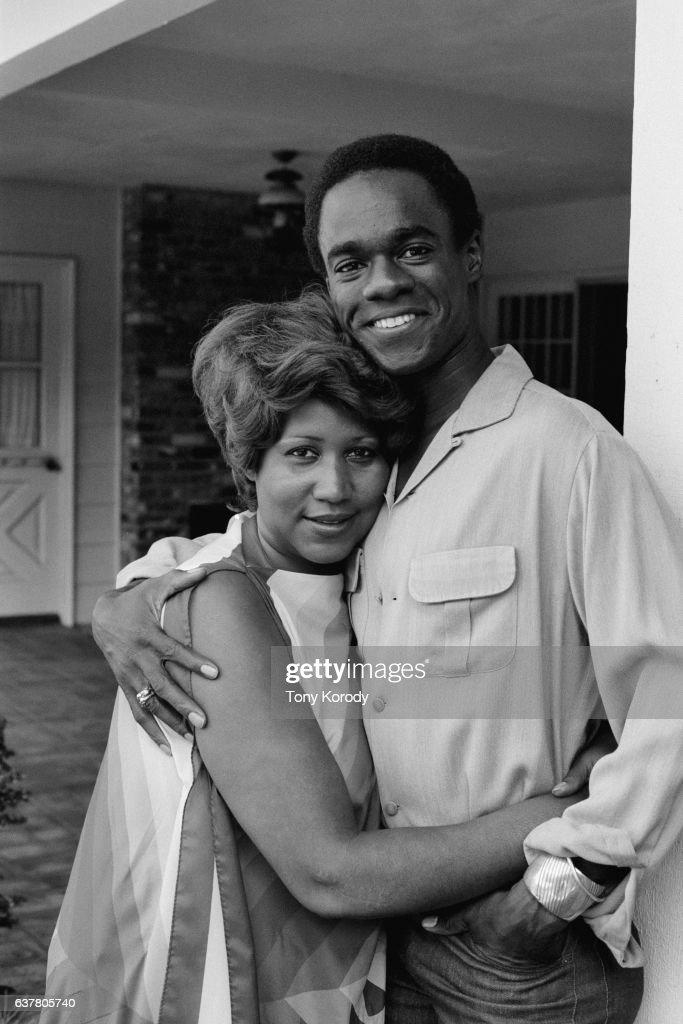 Aretha Franklin with Husband Glynn Turman