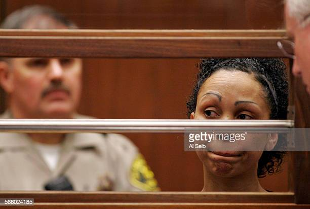 Aretha Wilson appeared with her attorney Daniel V Nixon for arraignment in Los Angeles Superior Court August 4 2010 Wilson is accused of attacking...