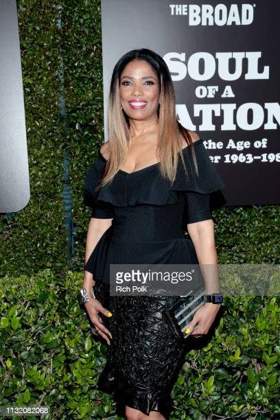 Areva Martin attends The Broad Museum celebration for the opening of Soul Of A Nation Art in the Age of Black Power 19631983 Art Exhibition at The...
