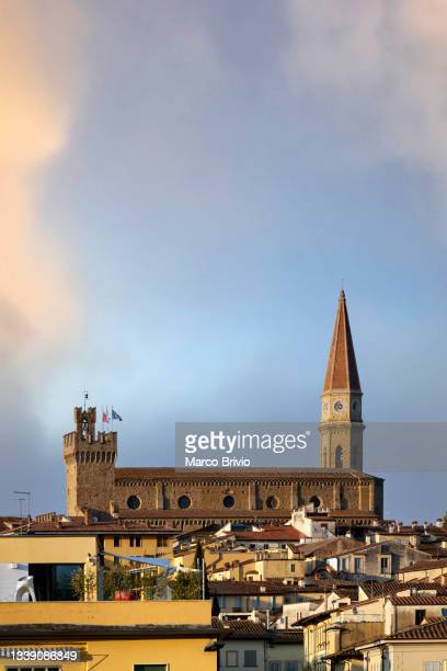arezzo tuscany italy. cityscape from an elevated view - marco brivio stock pictures, royalty-free photos & images