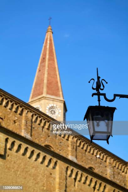 arezzo tuscany italy. the cathedral - marco brivio stock pictures, royalty-free photos & images